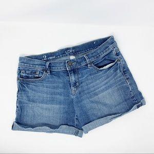 LOFT Denim Jean Shorts